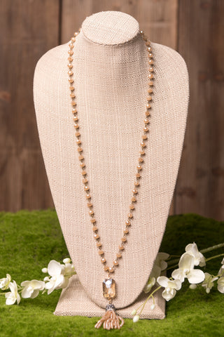Athena Necklace in Peach