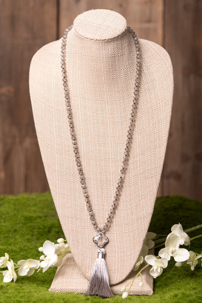 Devyn Necklace in Grey