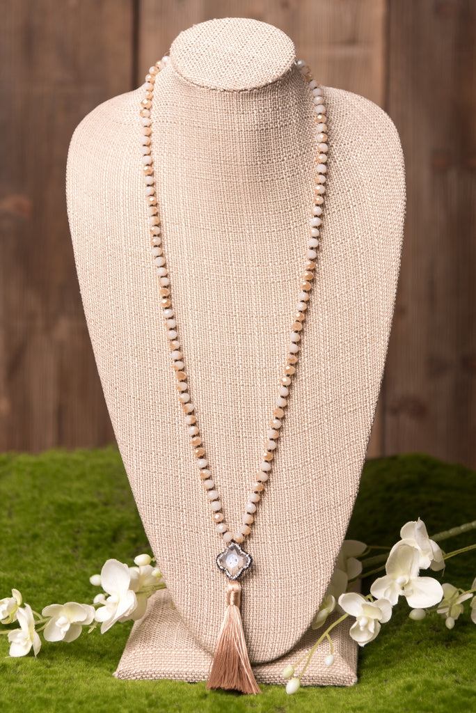 Devyn Necklace in Tan