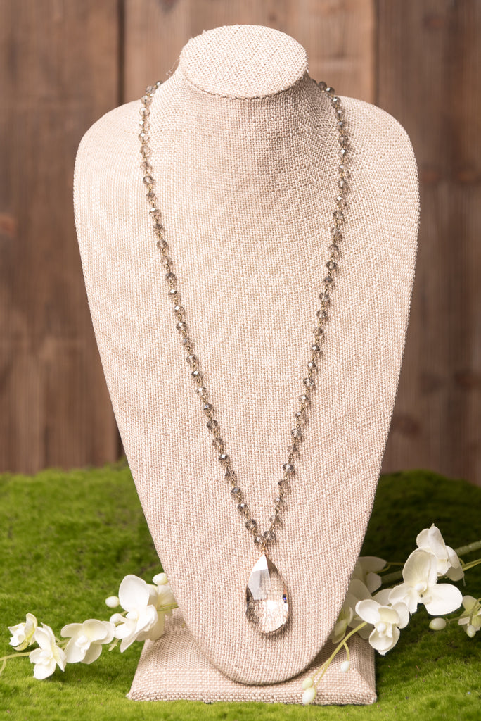 Claire Necklace in Crystal