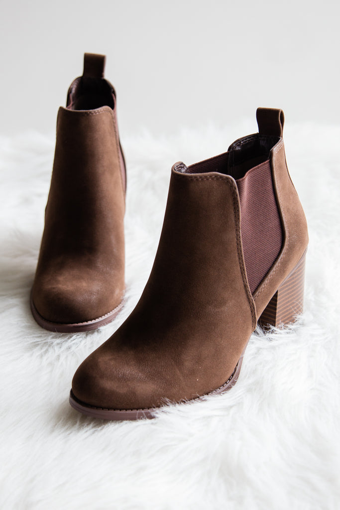 Toxic Love Booties in Brown