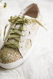 Stardust Sneakers in Gold Glitter