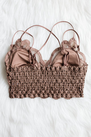 Amazing Lace Bralette v.II in Mocha