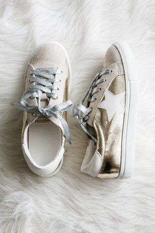 Stardust Sneakers in Gold
