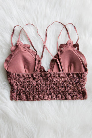 Amazing Lace Bralette in Dusty Mauve