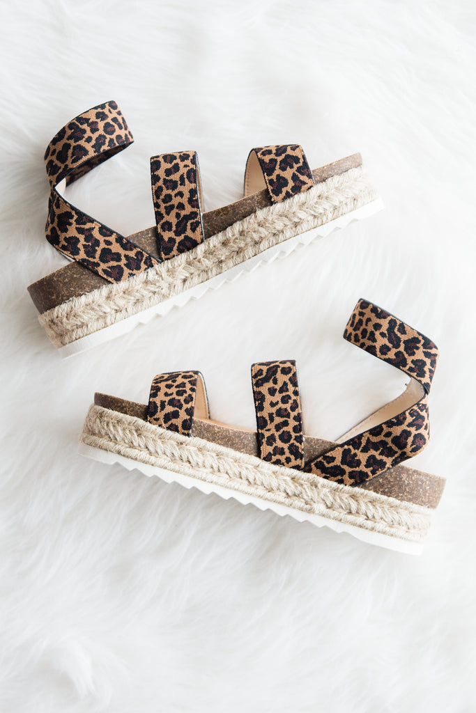 Wild Time Sandals in Leopard