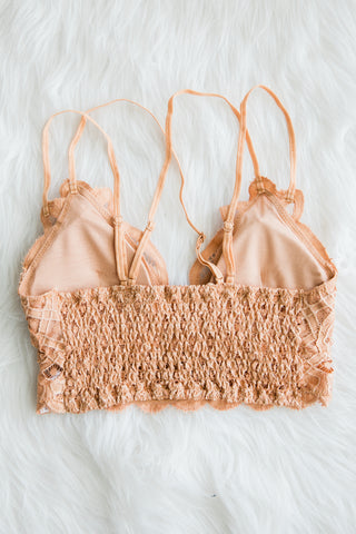 Amazing Lace Bralette in Sandstone