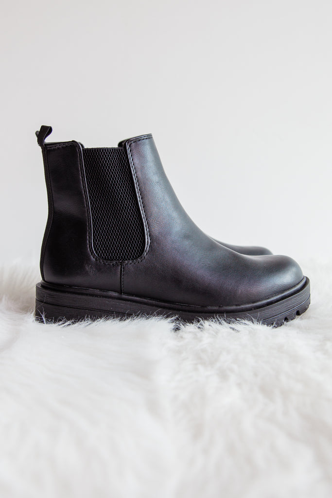 Take A Walk Booties in Black