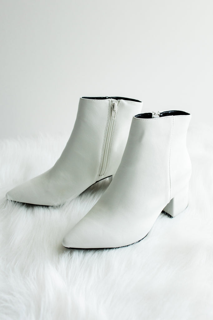 I Ain't Your Girlfriend Booties in White