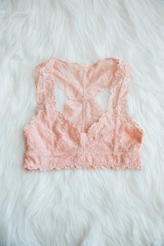 Lace Elegance Bralette in Blush