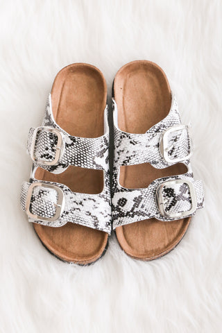 Choose Adventure Sandals in Black/White