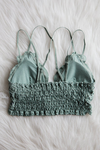 Amazing Lace Bralette in Dusty Teal