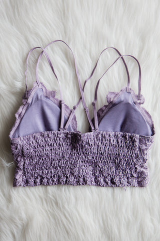 Amazing Lace Bralette in Purple Ash