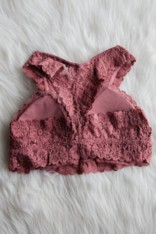 Flower Power Lace Bralette in Mauve