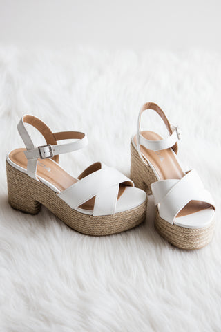 Angel Baby Platforms in White