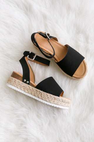 Aloha Life Sandals in Black
