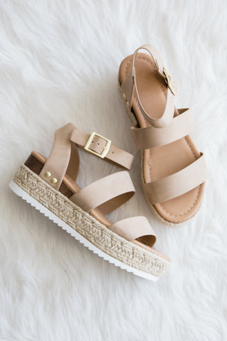 Dance in The Sunshine Sandals in Taupe