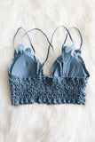 Amazing Lace Bralette in Blue Stone