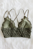 Amazing Lace Bralette in Dark Olive