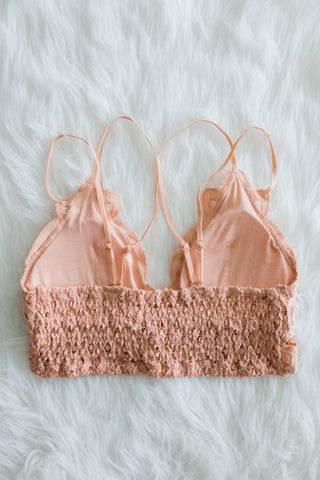 Amazing Lace Bralette in Dusty Coral