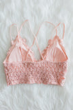 Amazing Lace Bralette in Mellow Rose