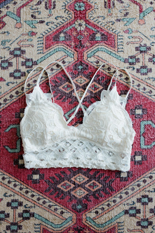 Amazing Lace Bralette in Off White