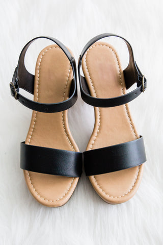 Sea You Soon Sandals in Black