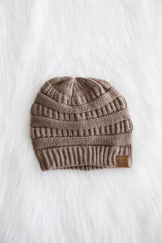 All Winter Long CC Beanie in Taupe