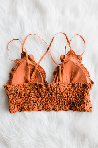 Amazing Lace Bralette in Copper