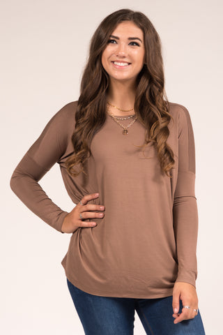 Piko Perfect Top in Brown