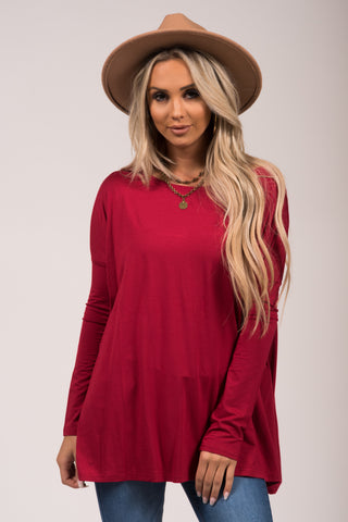 Piko Perfect Top in Burgundy