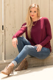 Piko Perfect Top in Dark Maroon