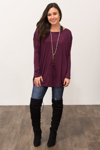 Piko Perfect Top in Merlot