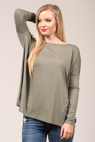 Piko Perfect Top in Olive