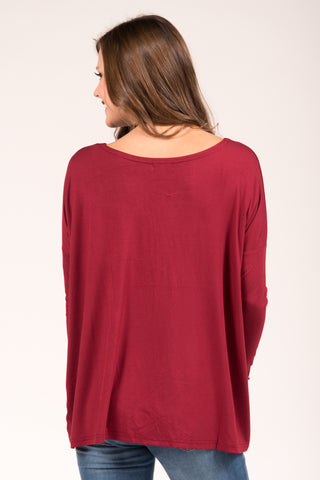 Piko Perfect Top in Wine