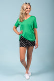 Piko Short Sleeve in Green (V-Neck)