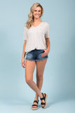 Piko Short Sleeve in Harbor Mist (V-Neck)