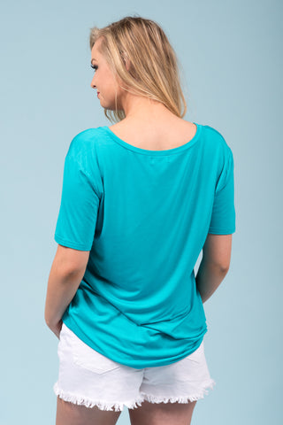 Piko Short Sleeve in Turquoise (V-Neck)