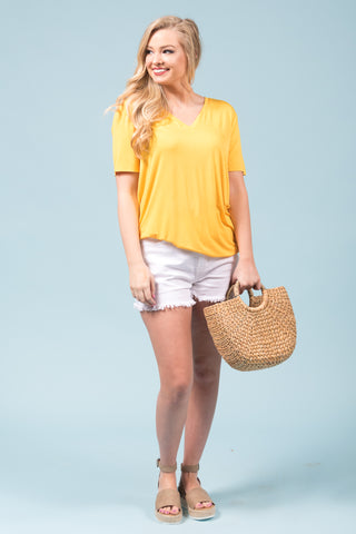 Piko Short Sleeve in Yellow (V-Neck)