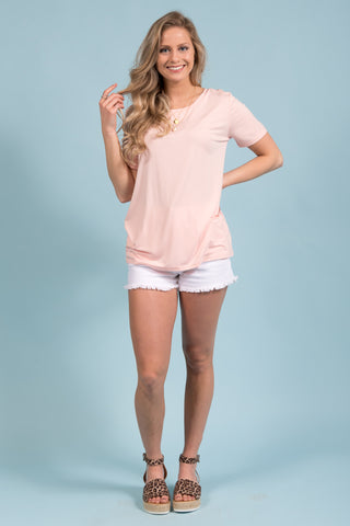 Piko Short Sleeve in Blush (Crew Neck)