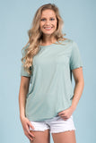 Piko Short Sleeve in Seafoam (Crew Neck)