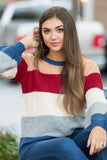 Wonderful World Sweater in Red