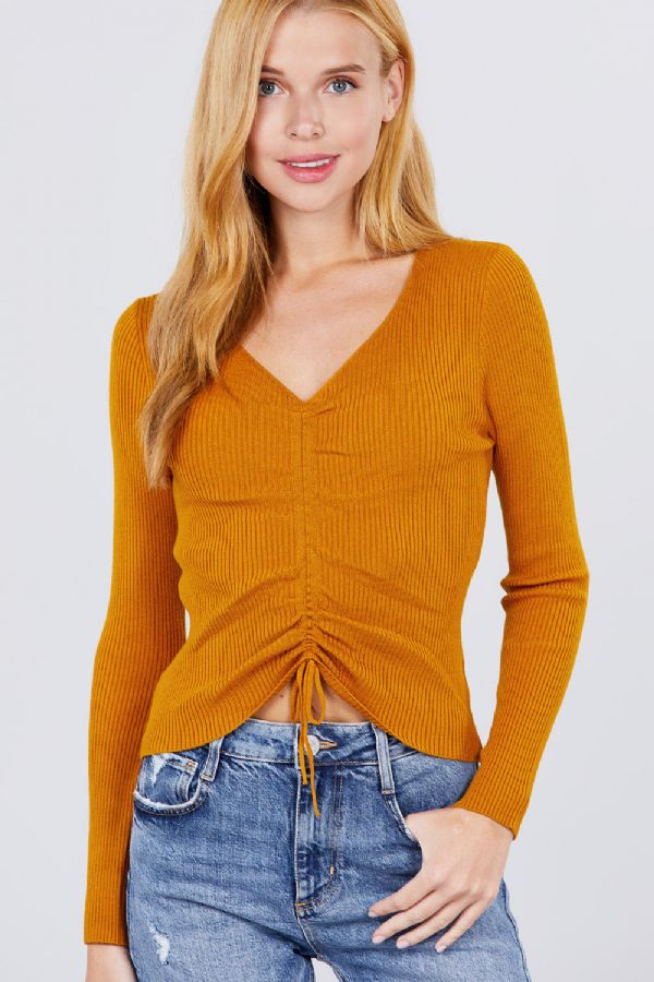 Made For You Top in Mustard