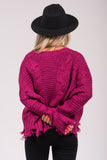 Kiss Me Once Sweater in Magenta