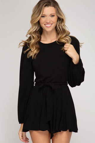 Feel No Ways Romper in Black