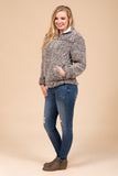 Winter Winds Pullover in Charcoal/Ivory