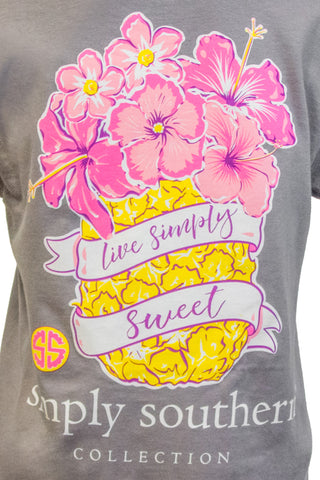 Simply Southern Short Sleeve in Pineapple