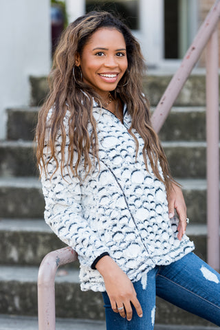 Simply Southern Sherpa Pullover in Grey