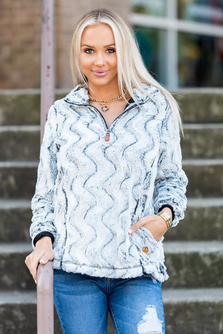 Simply Southern Sherpa Pullover in Stone