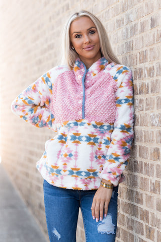 Simply Southern Sherpa Pullover in Tribal